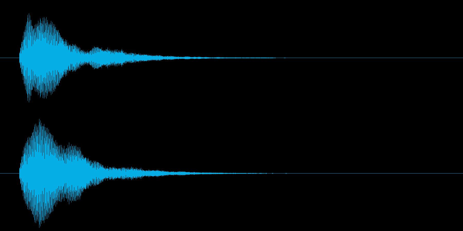 古いパソコンの終了音風ジングル3の再生済みの波形