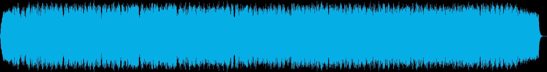 ゆったりとした竹笛のヒーリング音楽の再生済みの波形