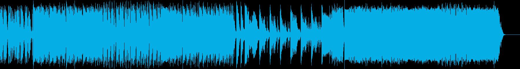 よさこい楽曲風BGM 和風 戦国 の再生済みの波形