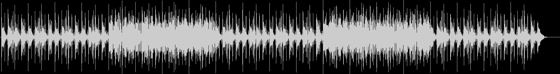個性的なシンセのリズムある曲の未再生の波形