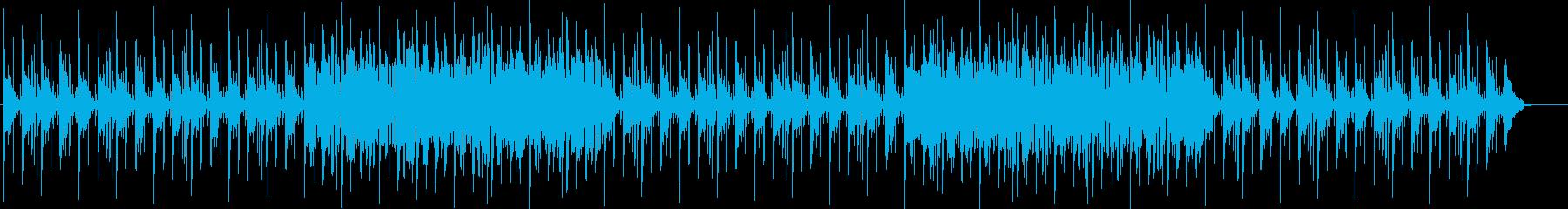 個性的なシンセのリズムある曲の再生済みの波形
