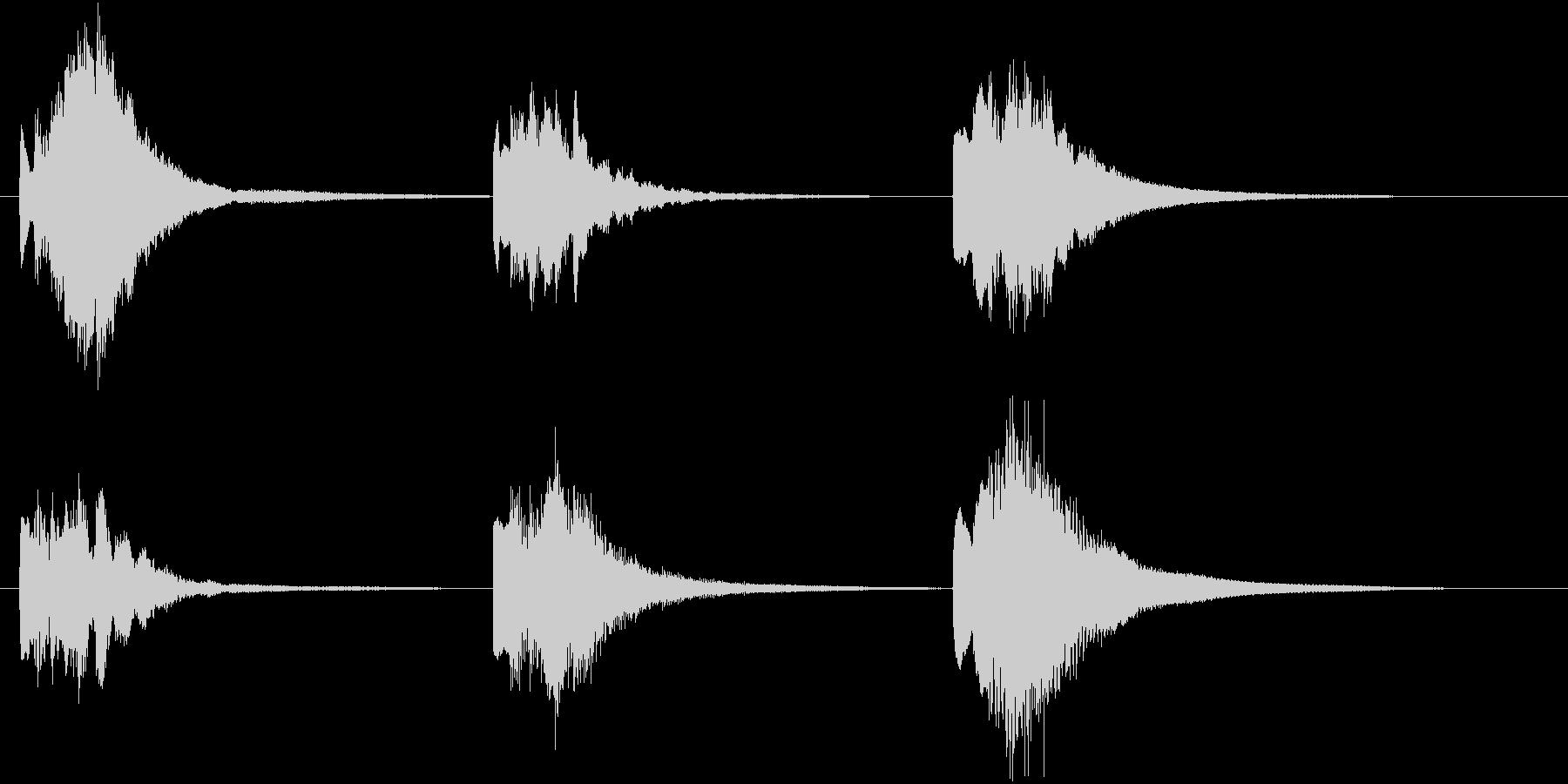 【ピアノ効果音】不思議、謎めいた瞬間の未再生の波形