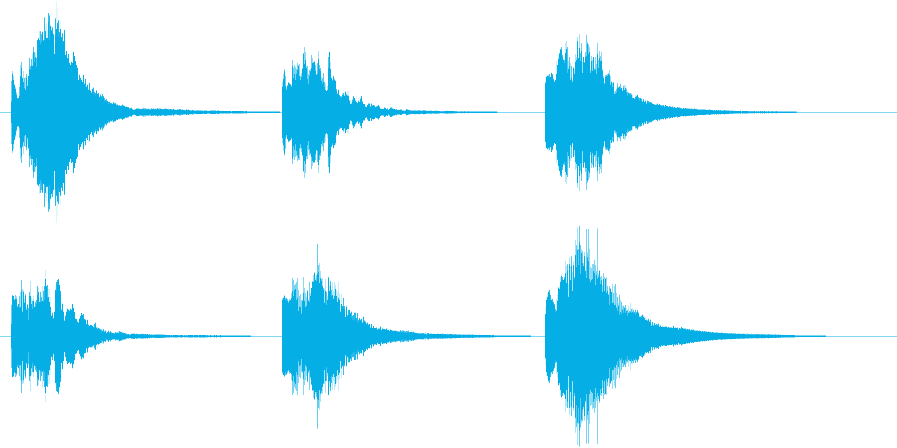 【ピアノ効果音】不思議、謎めいた瞬間の再生済みの波形
