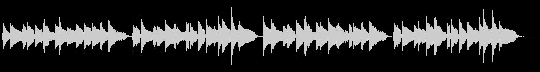 蛍の光 優しいアコギの未再生の波形