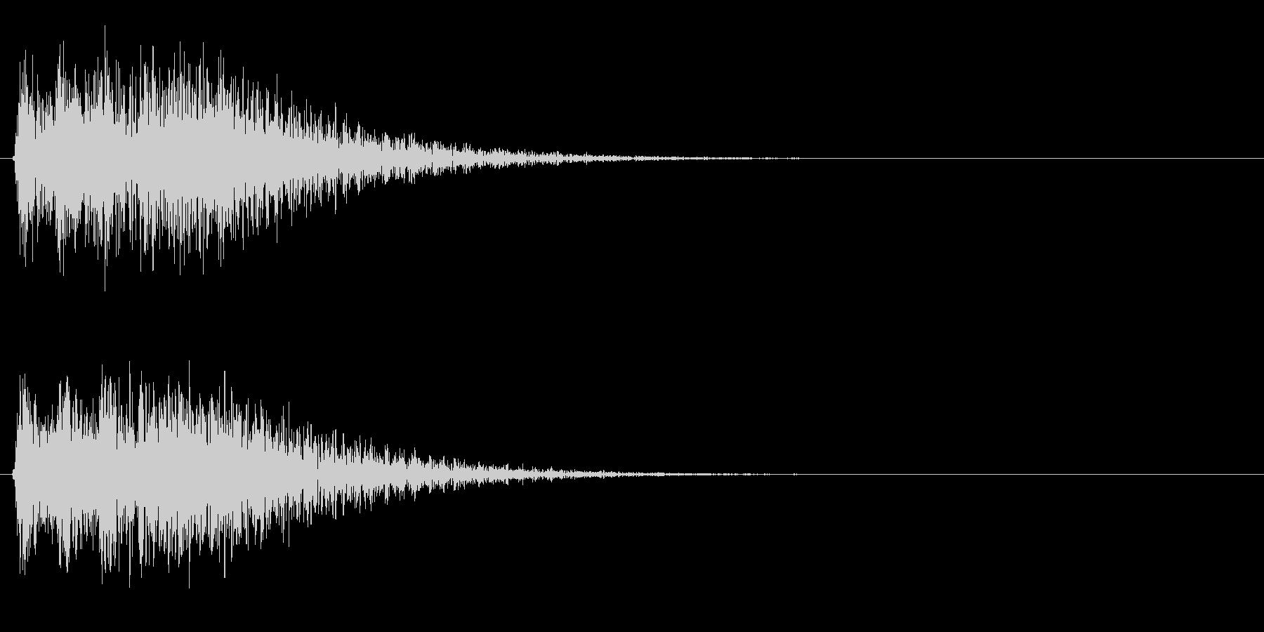 未来的・決定・選択・空気感・効果音20の未再生の波形