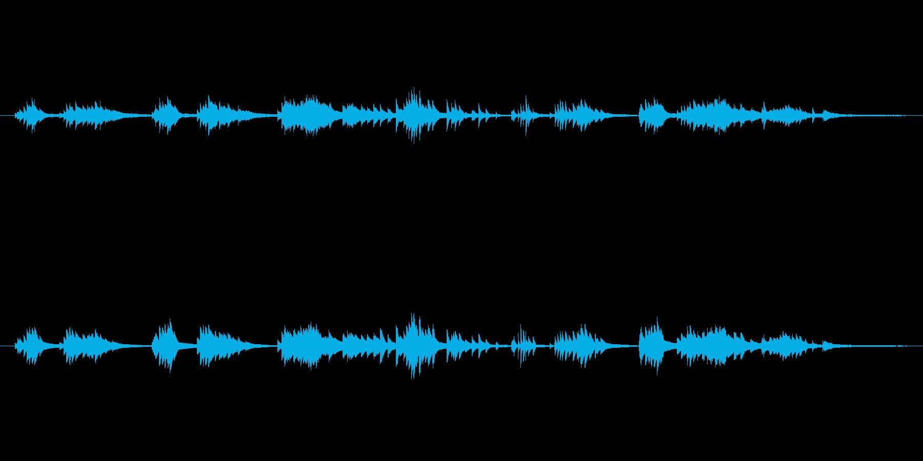 ・あまり主張しない、静かなピアノソロ曲…の再生済みの波形