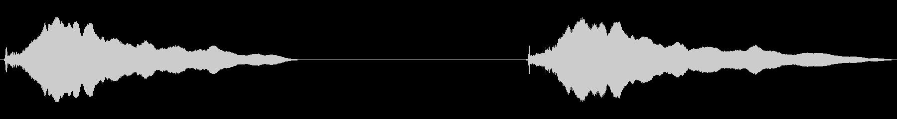 トーンホイッスルロングフォールb wavの未再生の波形