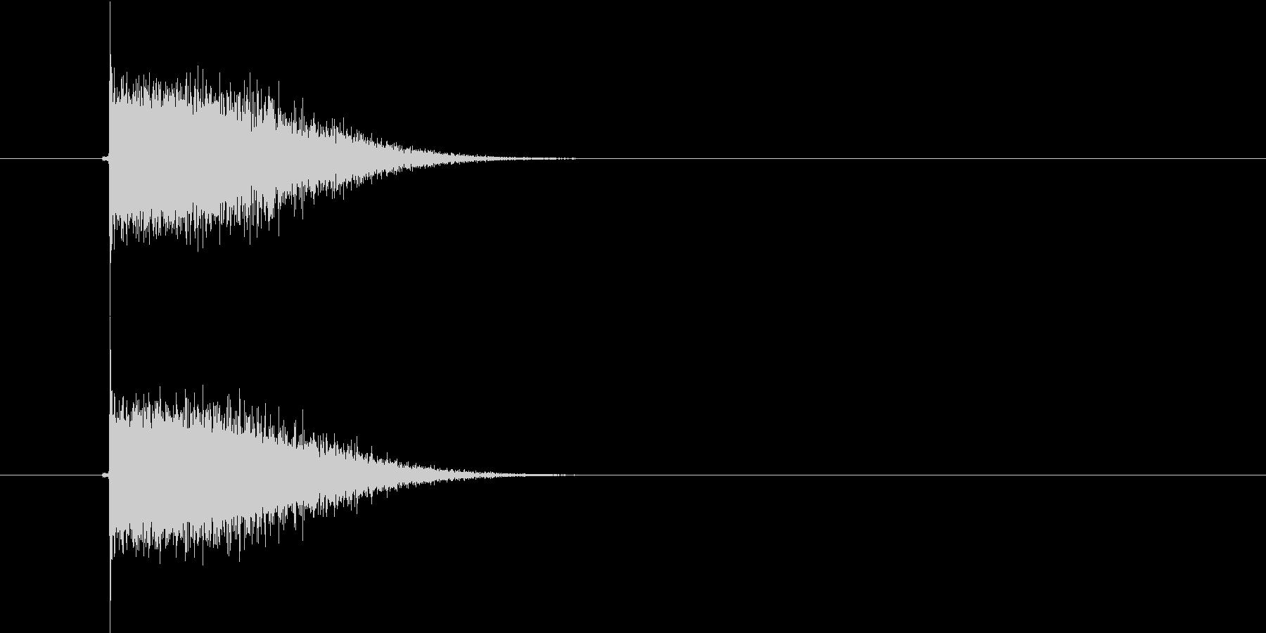 スピード感があるプシューという発射音の未再生の波形