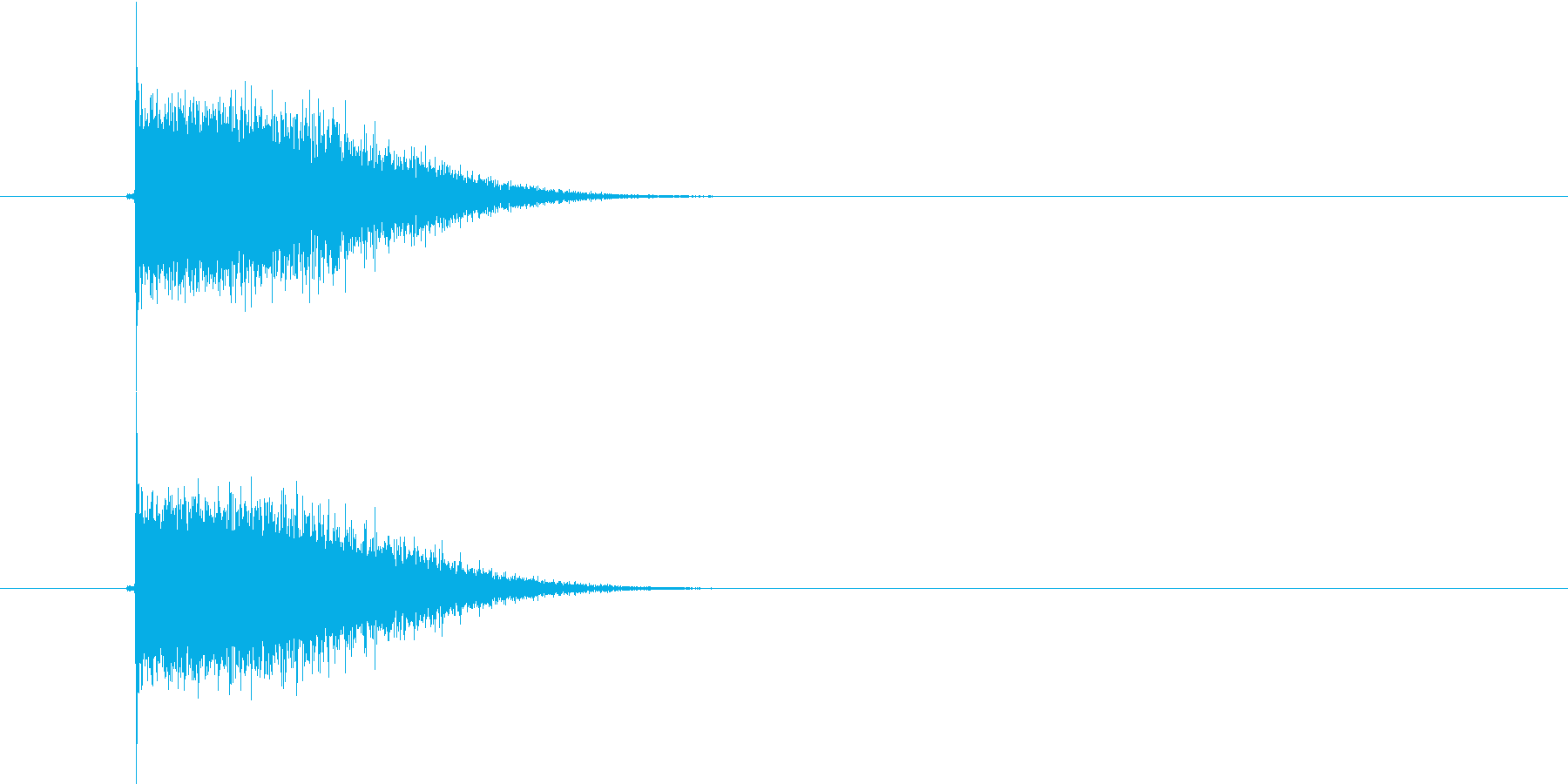 スピード感があるプシューという発射音の再生済みの波形