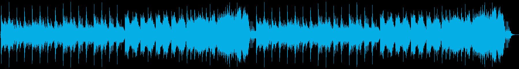 中世の不穏なゴシック曲の再生済みの波形