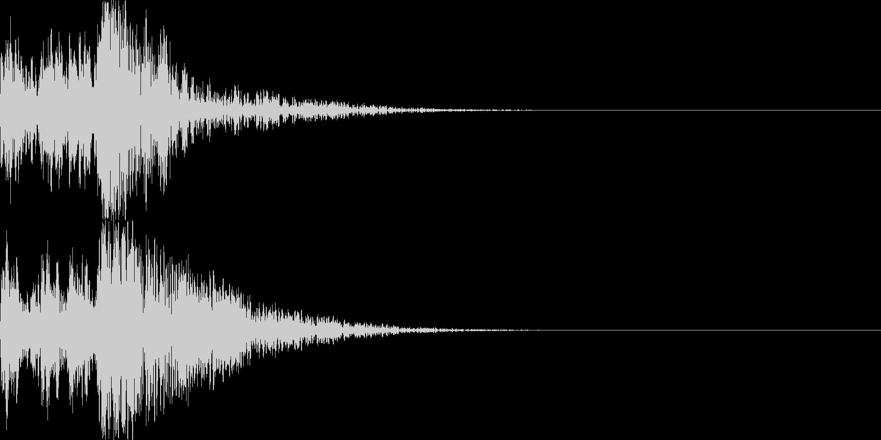 鼓(つづみ)太鼓のフレーズ ジングル2bの未再生の波形