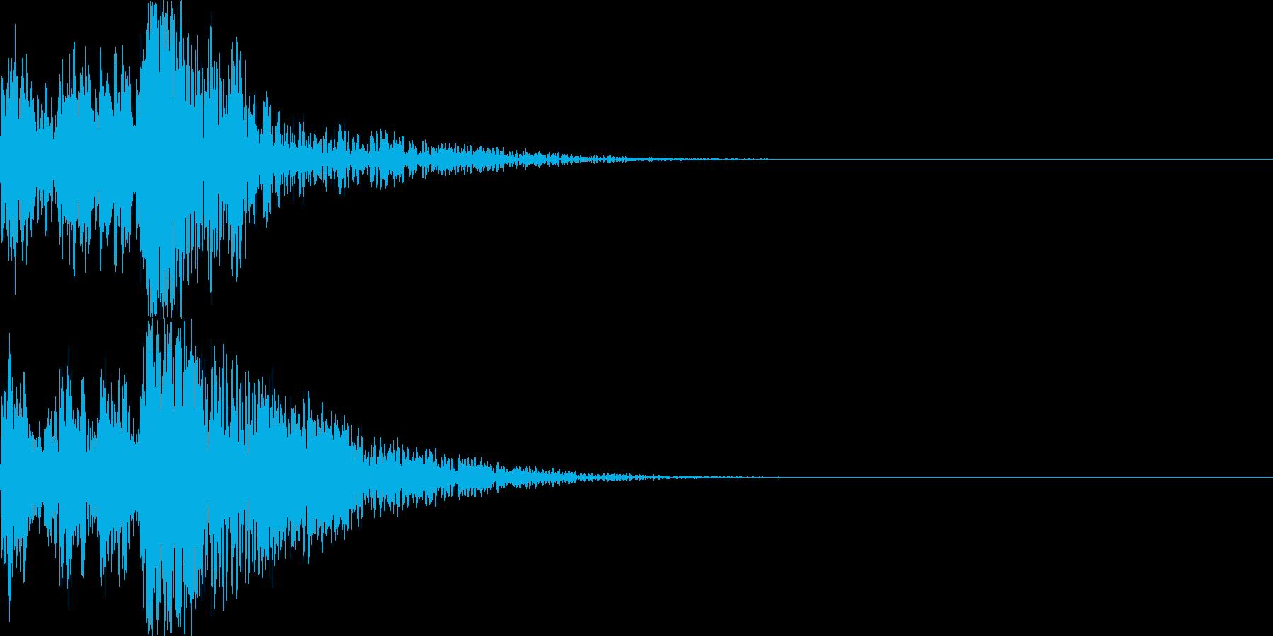 鼓(つづみ)太鼓のフレーズ ジングル2bの再生済みの波形