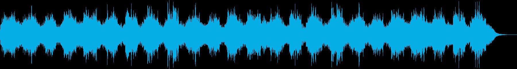 癒しの音楽の再生済みの波形