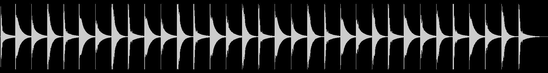 キシロフォン:時間の経過の未再生の波形