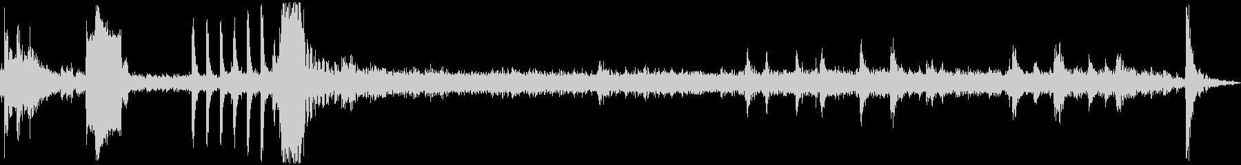 瞬間湯沸かし器生録音の未再生の波形