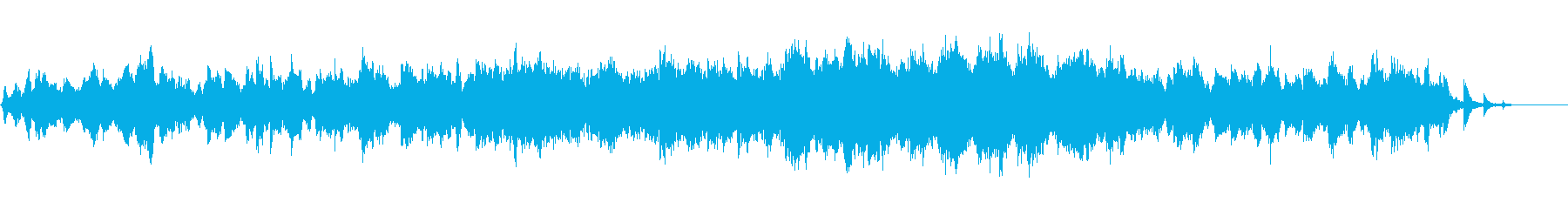綺麗で少し切ない雰囲気のBGMの再生済みの波形