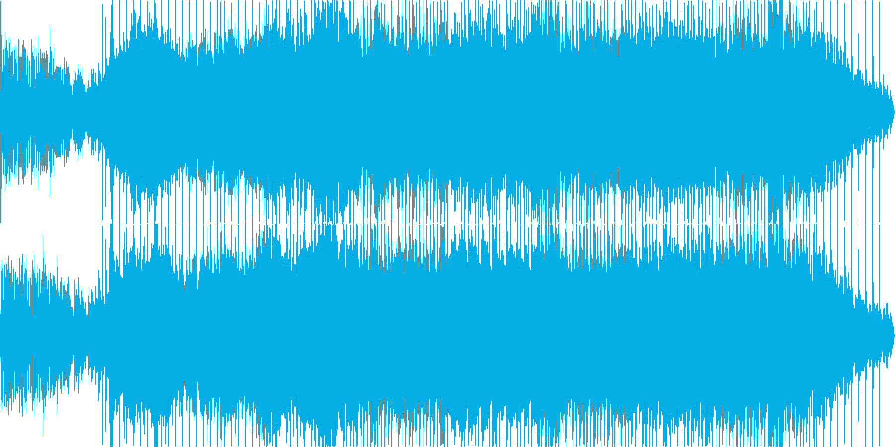 エレクトロでポップな爽やかBGMの再生済みの波形