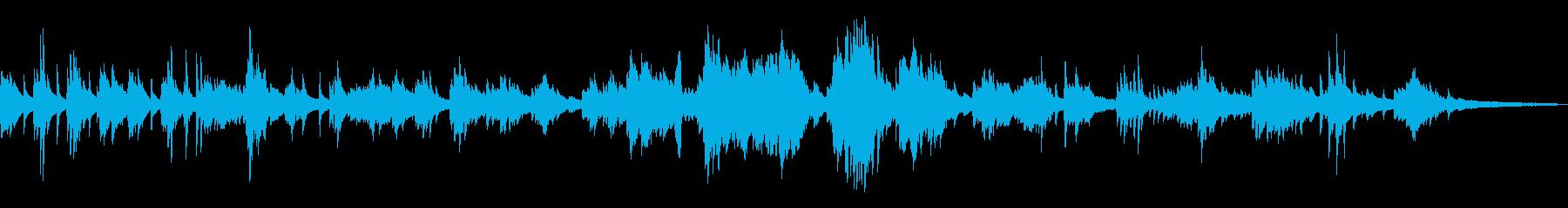 わびさびを尊重した和風曲5-ピアノソロの再生済みの波形
