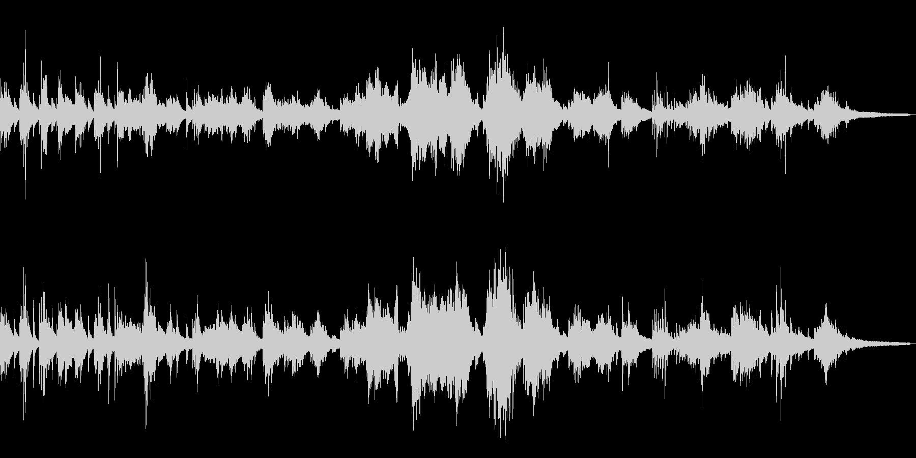 わびさびを尊重した和風曲5-ピアノソロの未再生の波形
