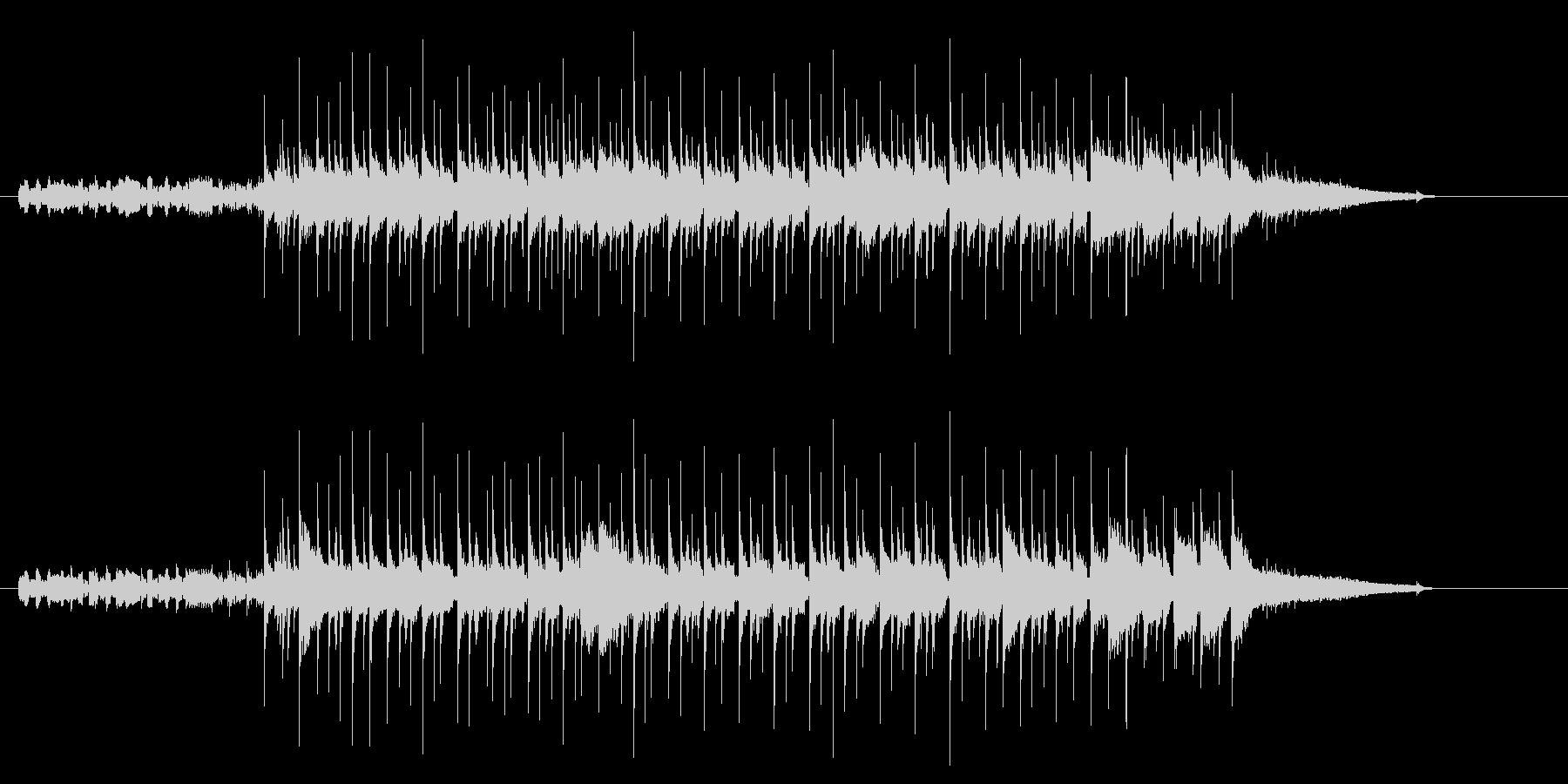 ほのぼのとした雰囲気のシャッフルの未再生の波形