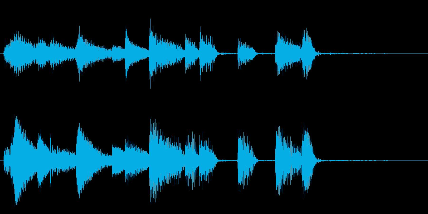 短いピアノサウンドロゴ_エンディングの再生済みの波形