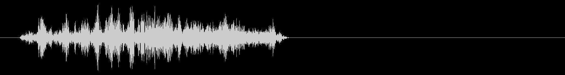 シークレットパッセージウェイストーンの未再生の波形