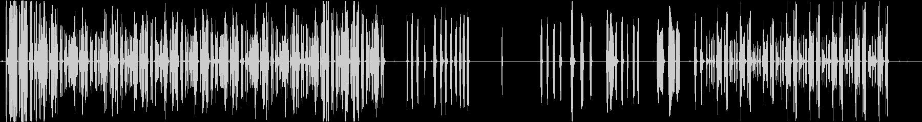 トーンパルスランダムシーケンスの未再生の波形