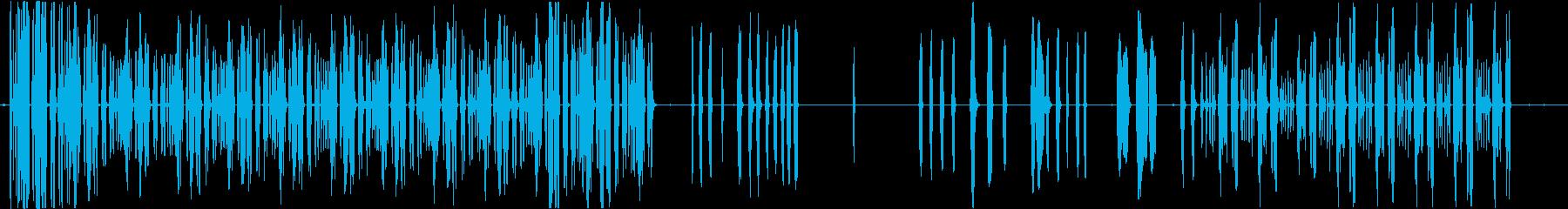 トーンパルスランダムシーケンスの再生済みの波形