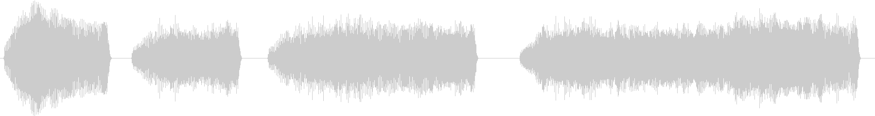 トーンベーススライドワープサステインの未再生の波形
