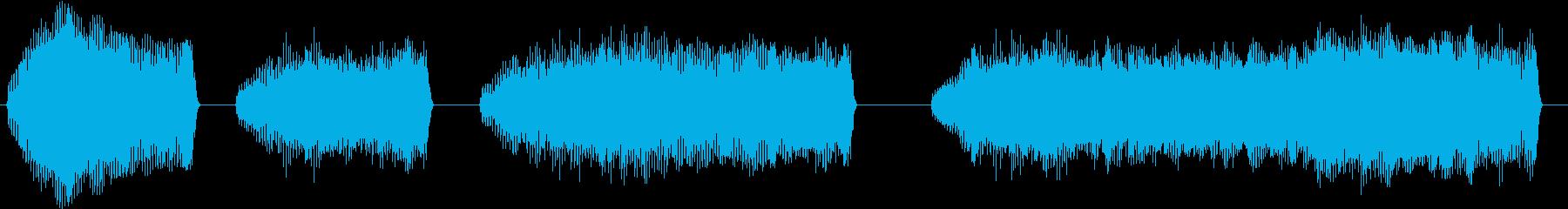 トーンベーススライドワープサステインの再生済みの波形