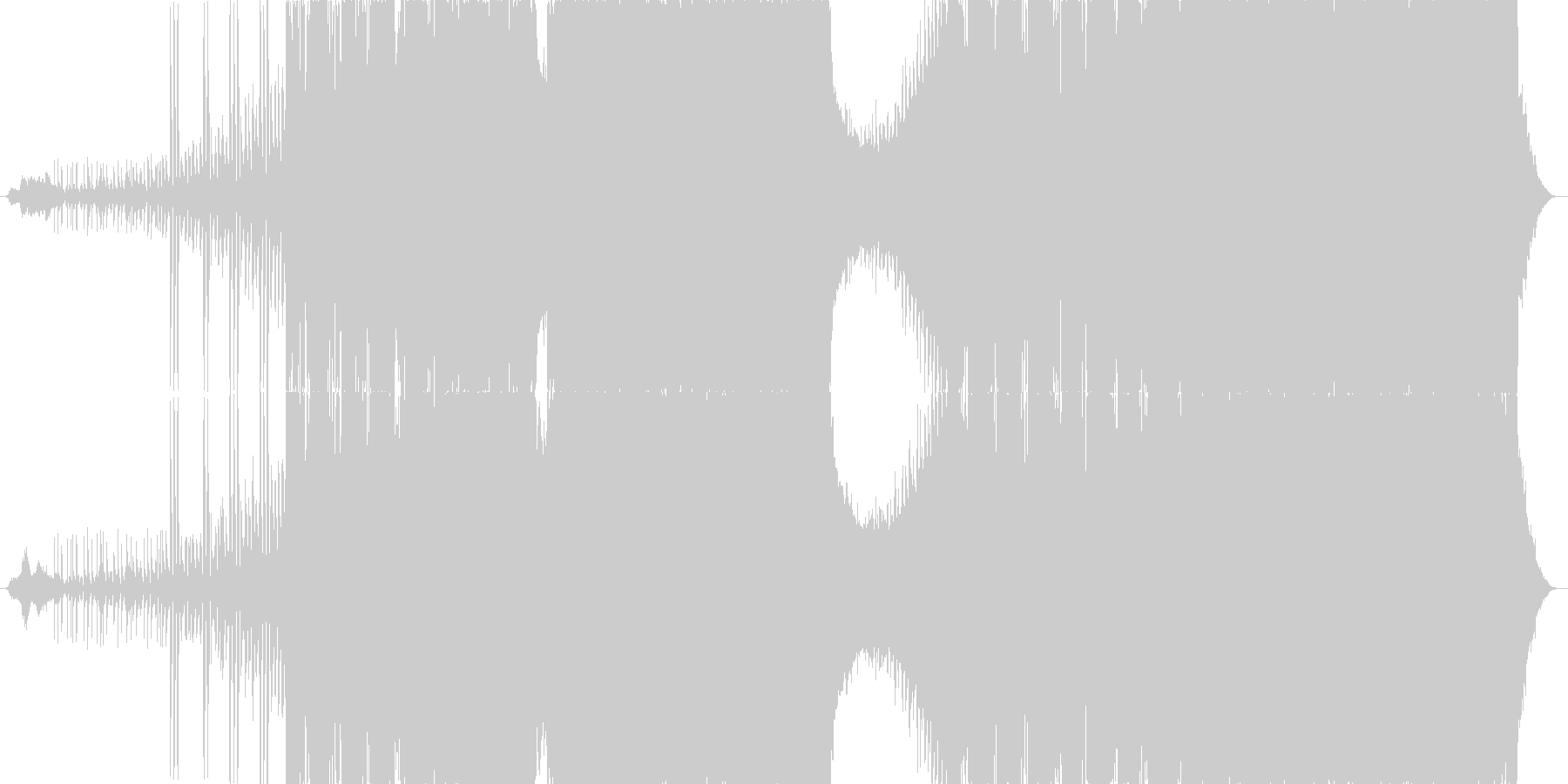 ダークでハードボイルドなラップメタルの未再生の波形