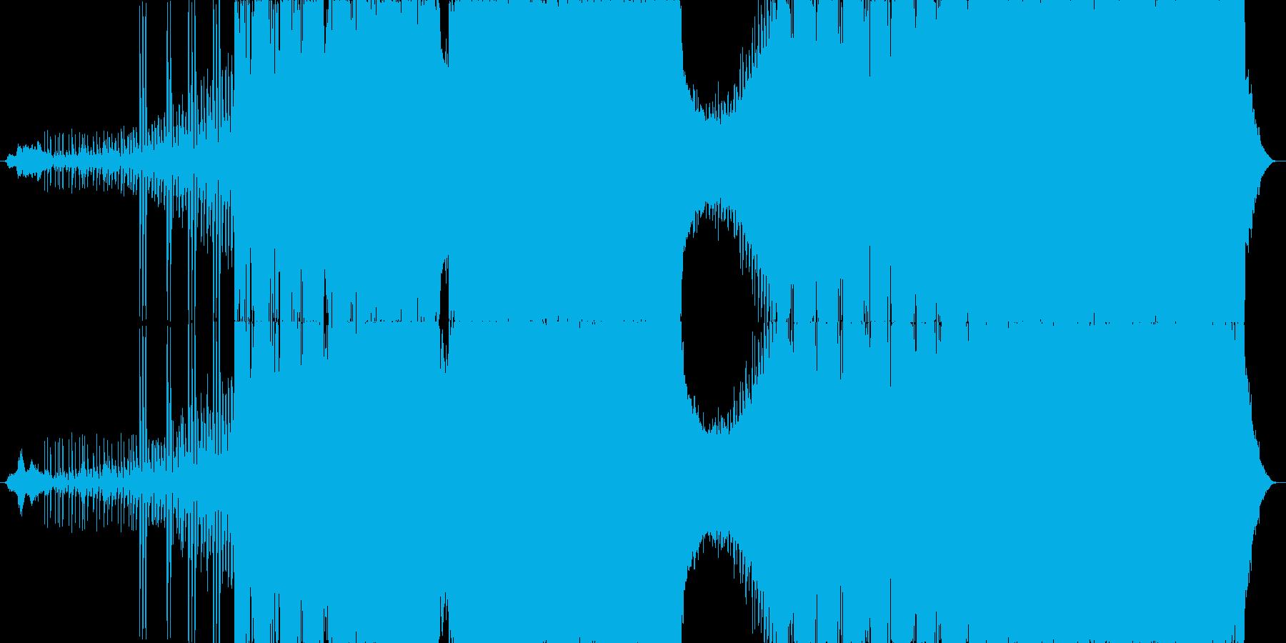 ダークでハードボイルドなラップメタルの再生済みの波形