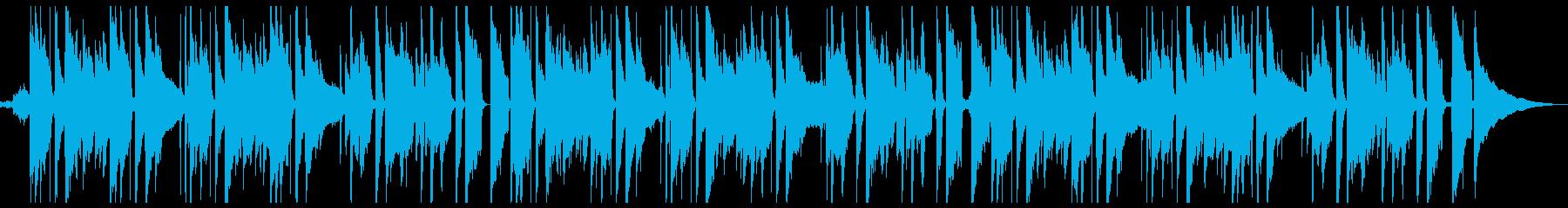 ゆったりとしたギターサウンドの再生済みの波形