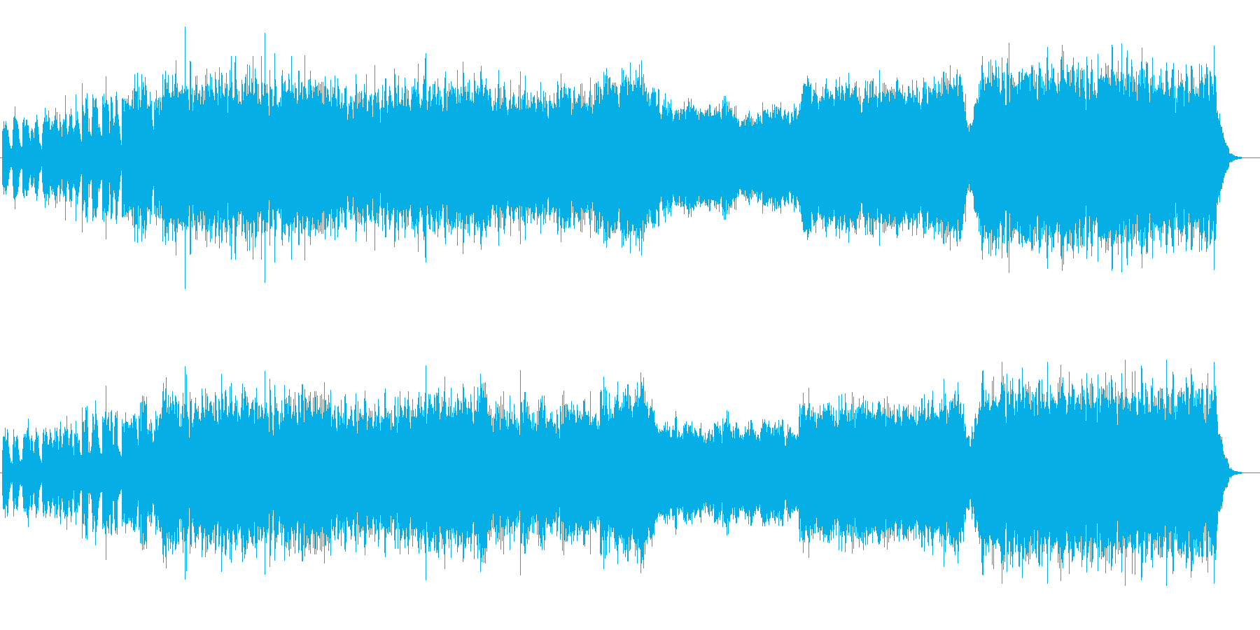 ヒロイックなオーケストラの再生済みの波形