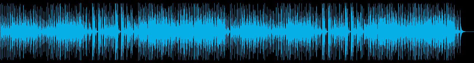 YouTube 爽やかな優しいウクレレの再生済みの波形