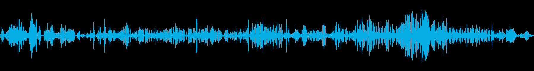 静的な無線歪みのゆらぎトーンの再生済みの波形
