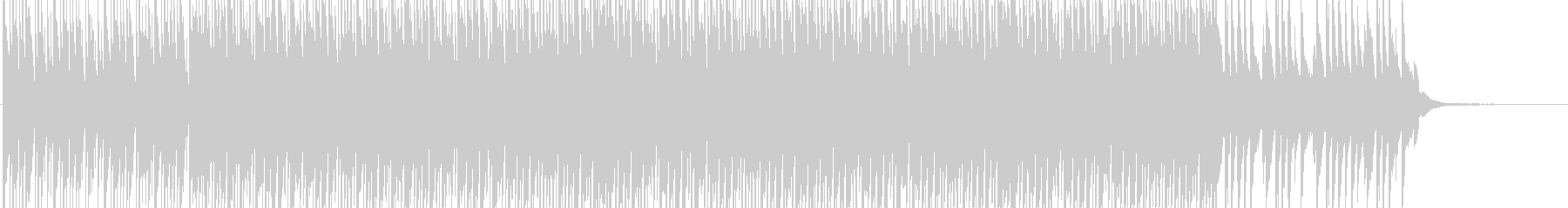 アップテンポなハウス系BGMの未再生の波形