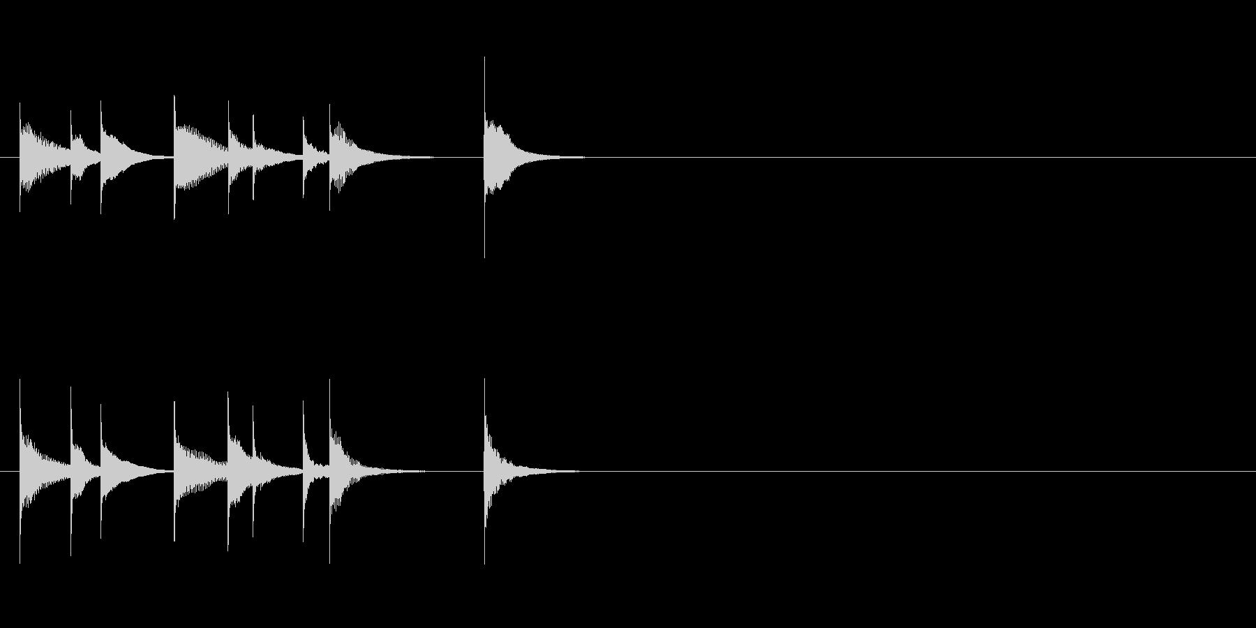 可愛い音のシロフォンを用いたジングルの未再生の波形
