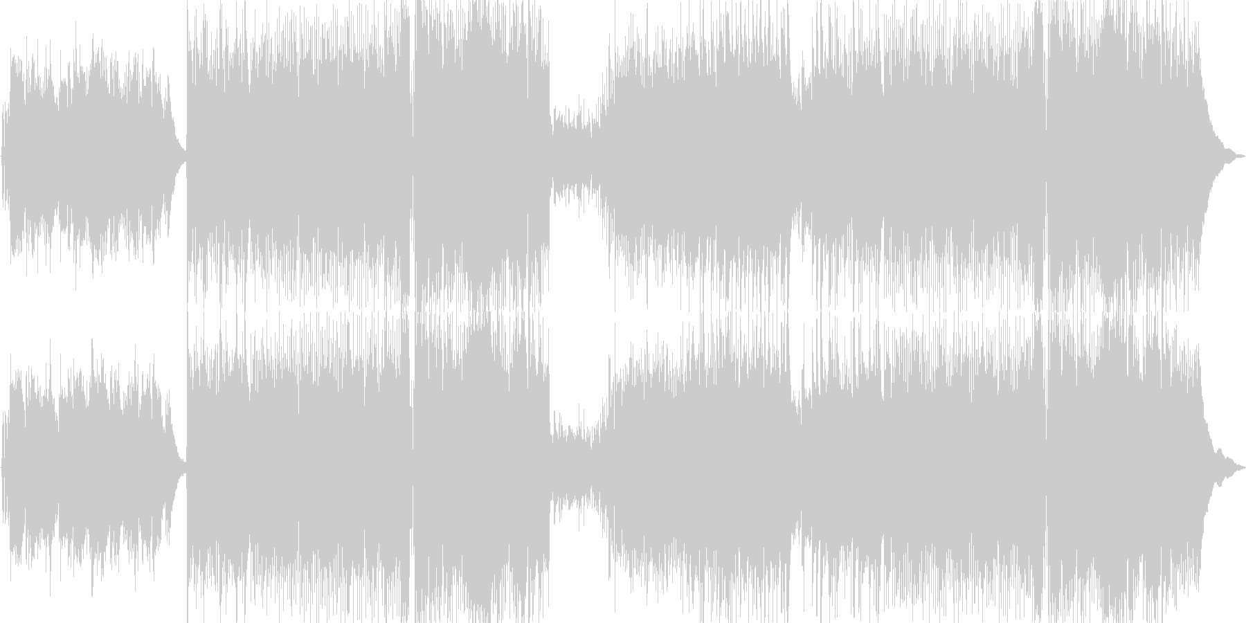 切なく緊張感のあるロックの未再生の波形