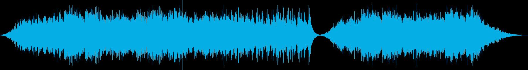 水をイメージしたヒーリングBGMの再生済みの波形