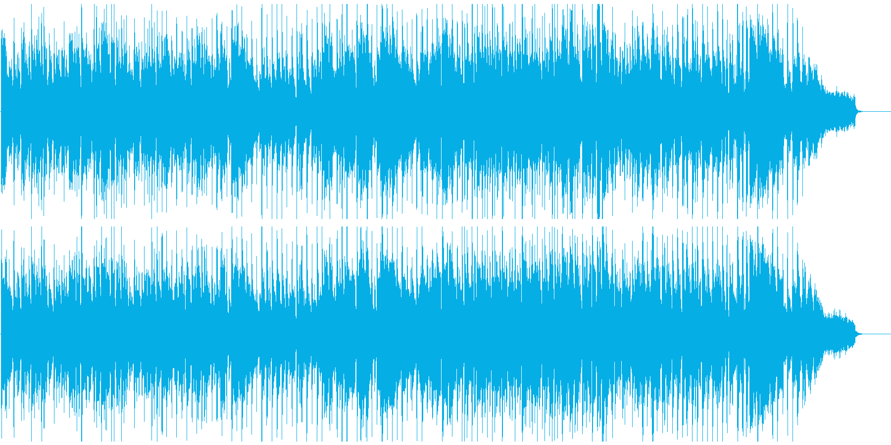 クラブジャズ、超ぶっといバリトンサックスの再生済みの波形