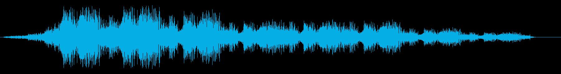シュンシュン(動きがある音)の再生済みの波形