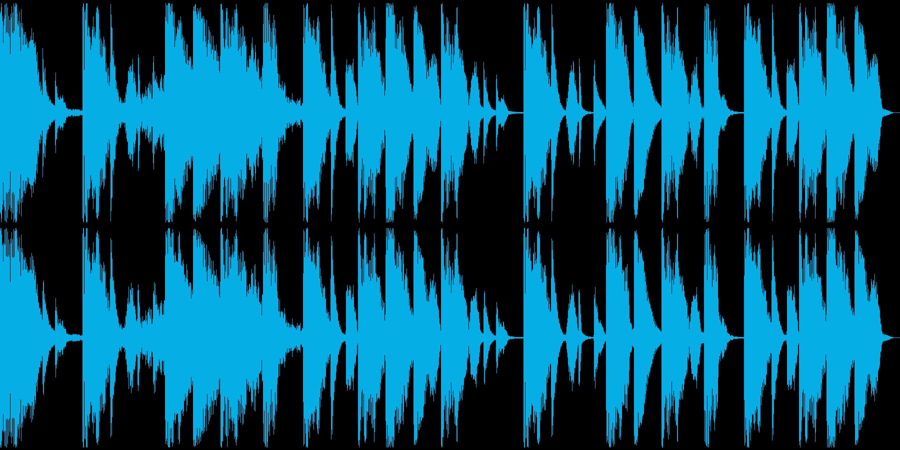 【ミステリアス】ロング1、ショート1の再生済みの波形