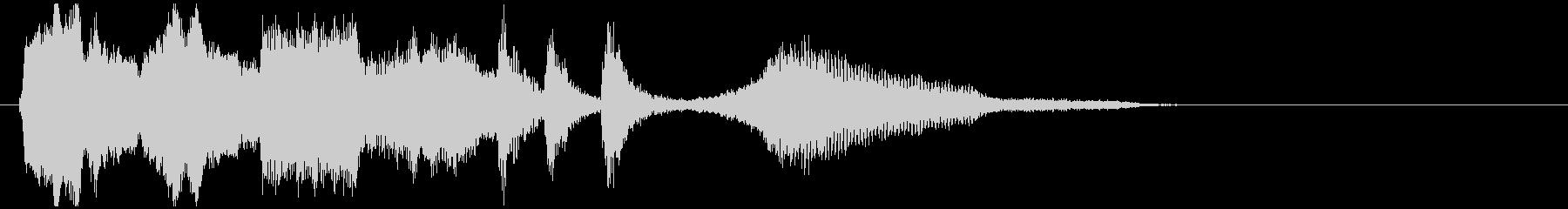 ムーディーでおしゃれなジングルの未再生の波形