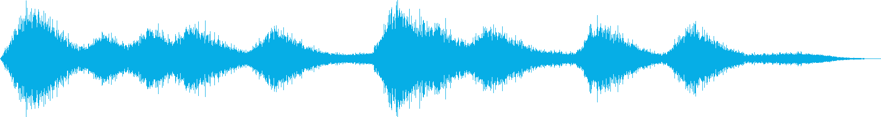 強風の再生済みの波形