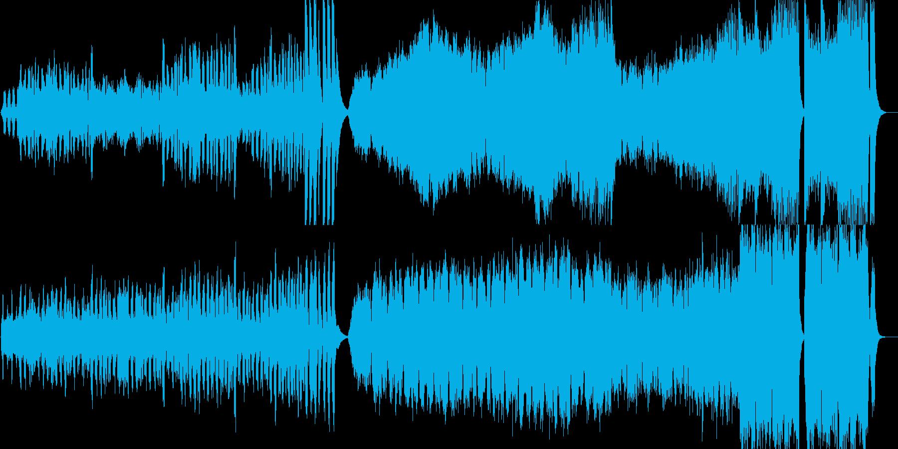 クラシカルで軽快なゲーム音楽の再生済みの波形