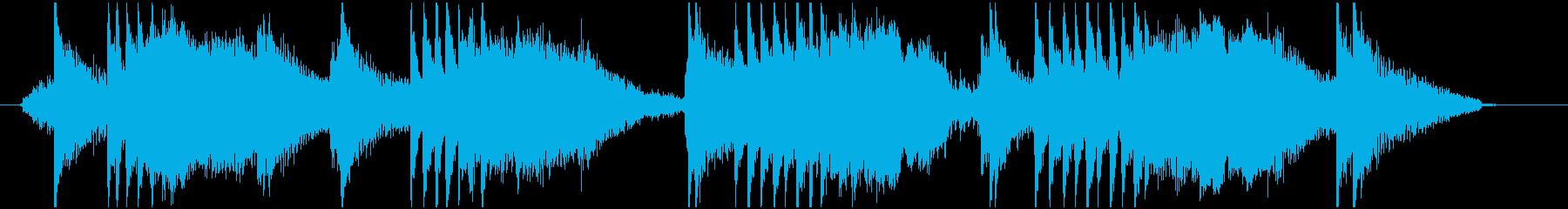 ダークでシリアスなシーンの再生済みの波形