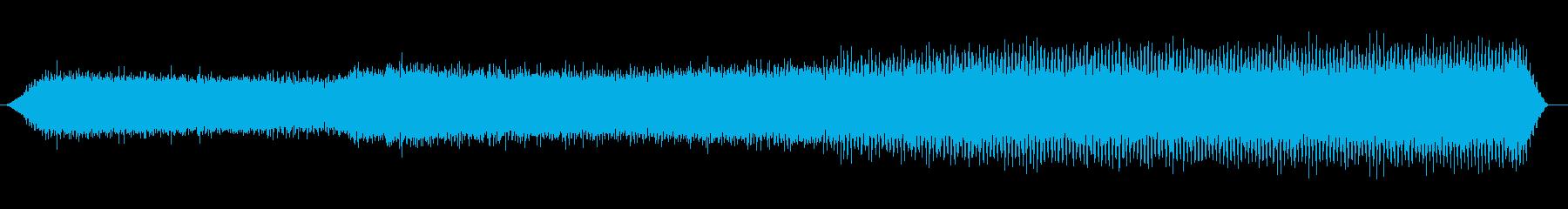 夏の山の環境音(夕方、セミ)の再生済みの波形
