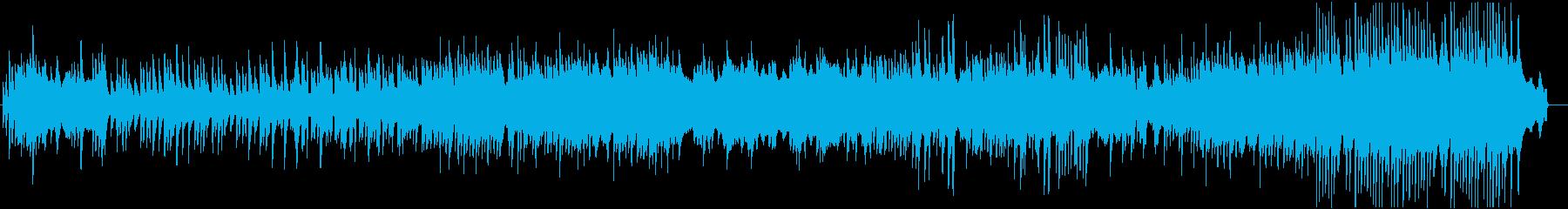 ピアノと弦楽器の静かなインスト曲の再生済みの波形
