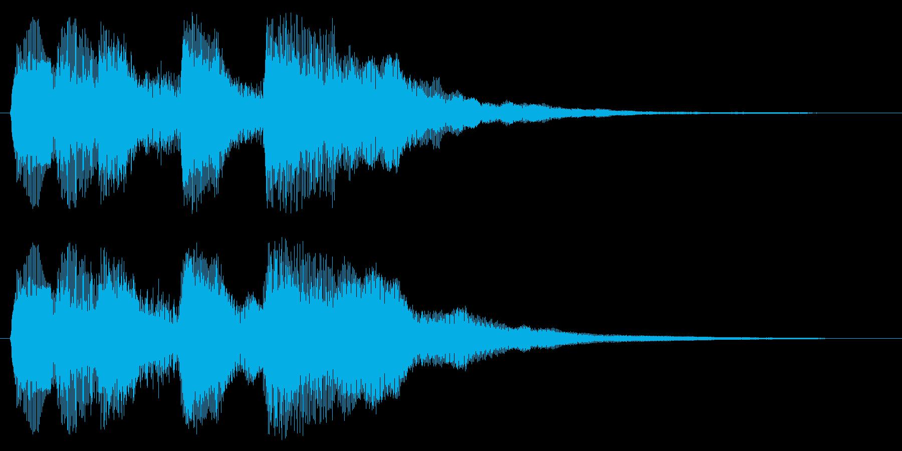 ミスした時の残念な音 ゲームオーバーの再生済みの波形